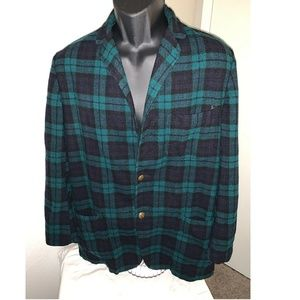 Pendelton VTG Plaid Blazer 100% Virgin Wool Large